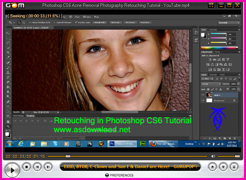 Retouching in Photoshop CS6 Tutorial