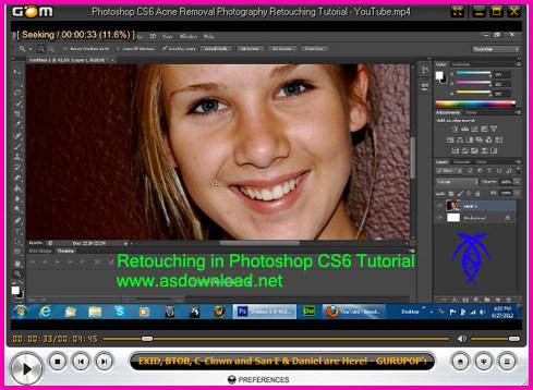 فیلم آموزش رتوش حرفه ای عکس با فتوشاپ cs6 - با کیفیت hd