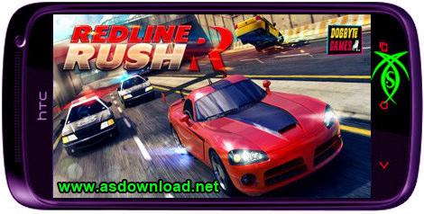 بازی مسابقه اتومبیل رانی و دو نفر Redline Rush برای آندروید + دیتا