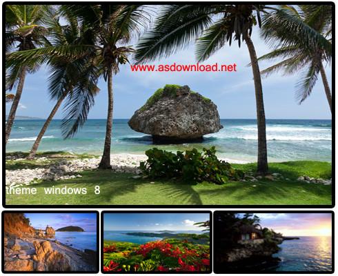 دانلود تم جزایر کارائیب برای ویندوز 8
