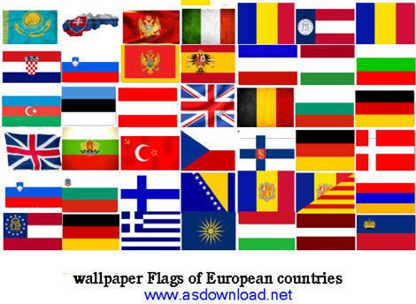 دانلود عکس پرچم 50 کشور اروپایی با کیفیت hd برای طراحان