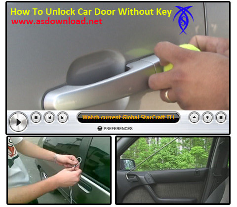 How to unlock your car door with a shoelace in 10 seconds for How to unlock mercedes benz door without key