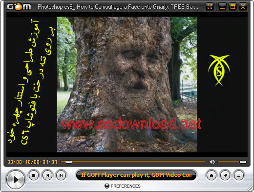 How to Camouflage a Face onto tree