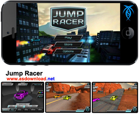 دانلود بازی مسابقه پرش با ماشین برای موبایل آندروید - Jump Racer