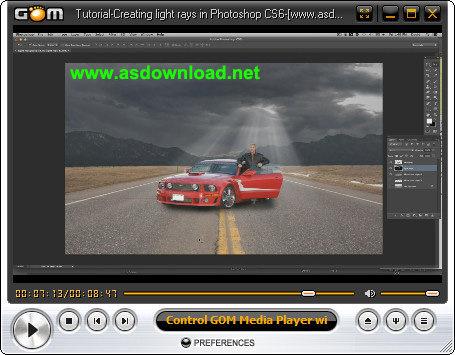 دانلود فیلم آموزش ایجاد اشعه های نور بر روی تصاویر در فتوشاپ CS6