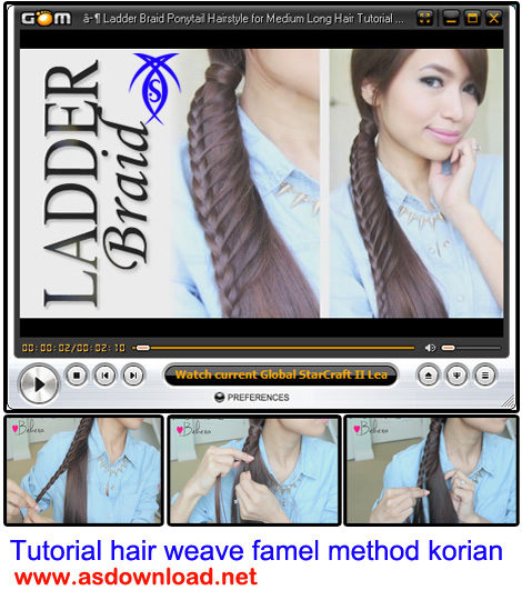 دانلود فیلم آموزش بافت موی سر زنانه به روش کره ای-Tutorial hair weave famel method korian
