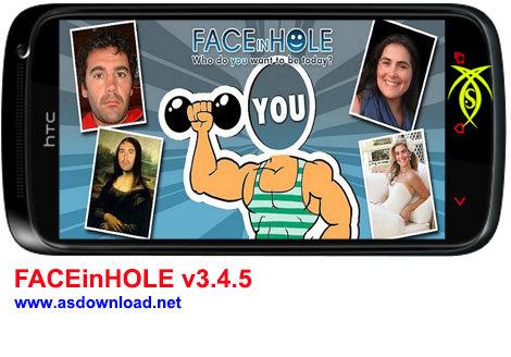 دانلود نرم افزار تبدیل عکس خود به چهره سوپر استار FACEinHOLE v3.4.5