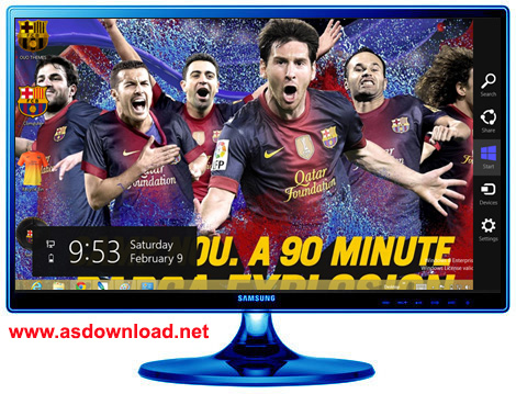 FC Barcelona Windows 7 Theme