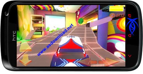 دانلود بازی مسابقه برای آندروید - Microworld Racing 3d