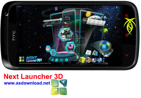 دانلود نرم افزار سه بعدی ساز صفحه نمایش آندروید - Next Launcher 3D
