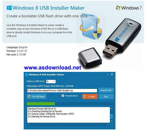 Windows 8 usb windows installer