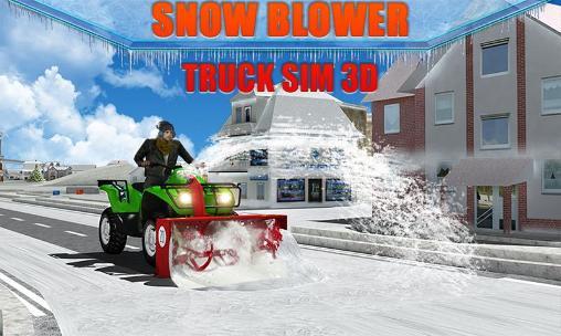 Snow blower: Truck sim 3D- بازی زمستانی برف ماشین برف روب برای اندروید
