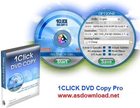 1CLICK DVD Copy Pro 6.1.0.9-نرم افزار افزایش سرعت کپی dvd