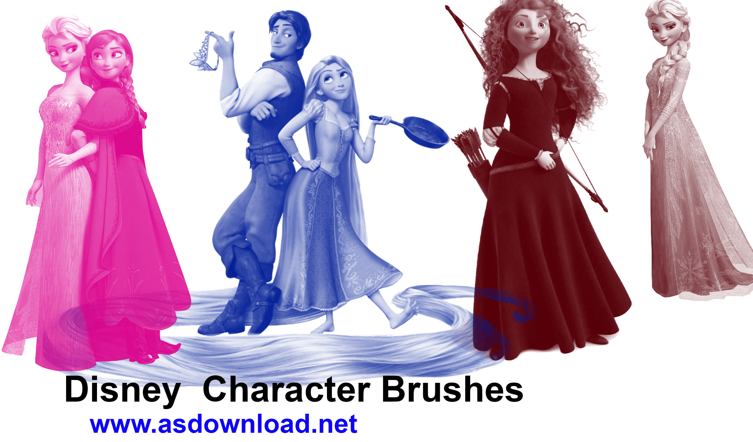 Disney Character Brushes