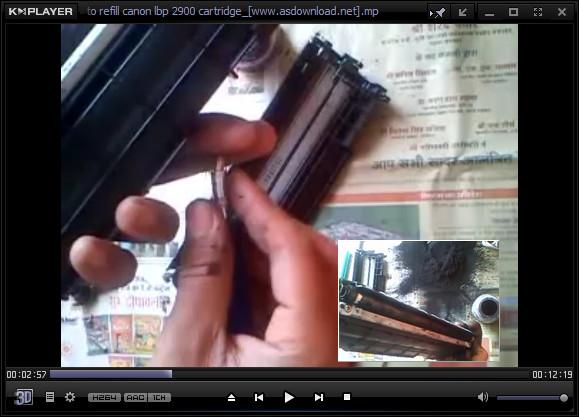 recharge cartridge canon 2900