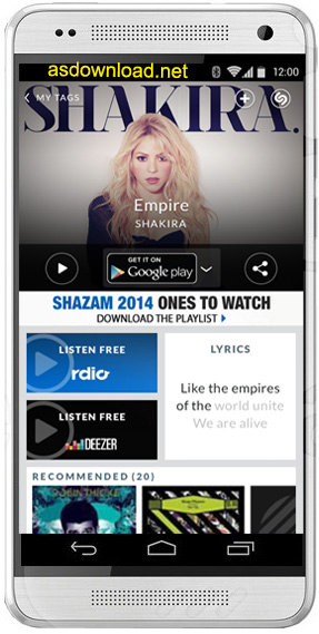 Shazam for android