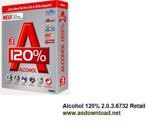 Alcohol 120 2.0.3 Alcohol 120% 2.0.3.6732 Retail قوی ترین نرم افزار رایت و ساخت درایور مجازی