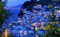 Capri Island At Night Wallpaper