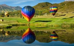 Balloon reflections at the Snowmass Balloon Festival, Aspen, Col