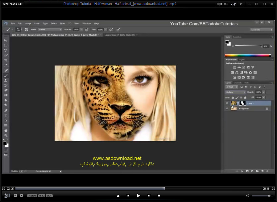 Photoshop Tutorial - Half woman - Half animal