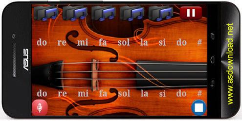 Real violin-نرم افزار آموزش ویولن برای اندروید