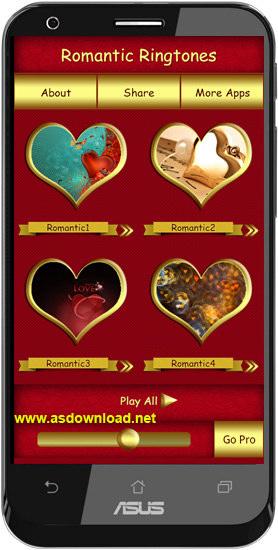 Romantic Ringtones-نرم افزار رینگتون رمانتیک برای آندروید