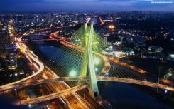 Ponte Estaiada Octávio Frias de Oliveira bridge in São Paulo,
