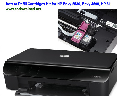 how to Refill Cartridges Kit for HP Envy 5530, Envy 4500, HP 61