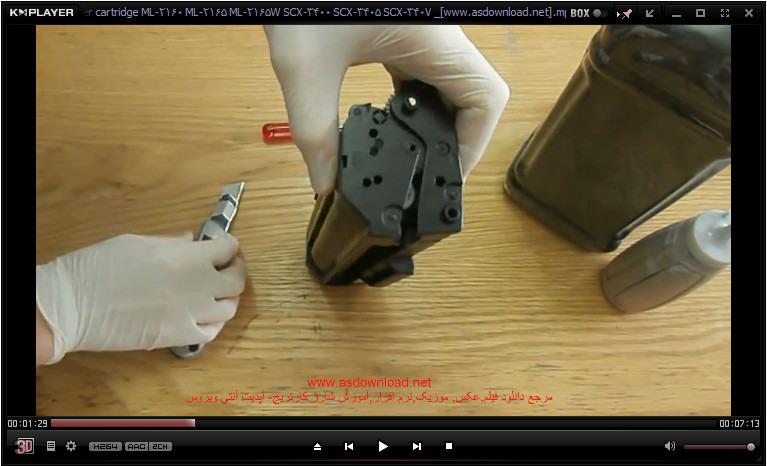 how to refill Toner cartridge ML-2160 ML-2165 ML-2165W SCX-34