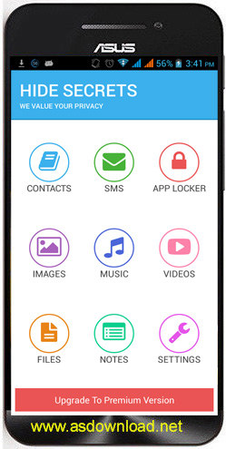 Hide Secrets Pics, SMS, Apps v2.5-مخفی سازی برنامه ها و گالری اندروید