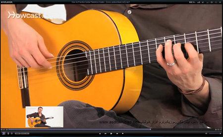 فیلم آموزش گیتار فلامنکو-تمرین فلس