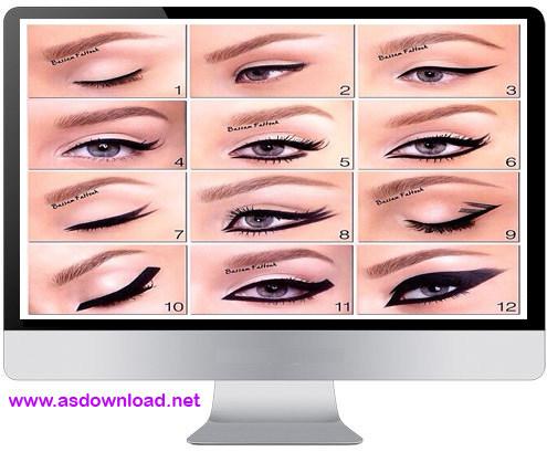 فیلم آموزش 12 مدل حرفه ای آرایش مژه ها و گریم چشم