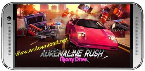 Adrenaline rush: Miami drive-بازی مسابقه عجله آدرنالین برای اندروید+دیتا