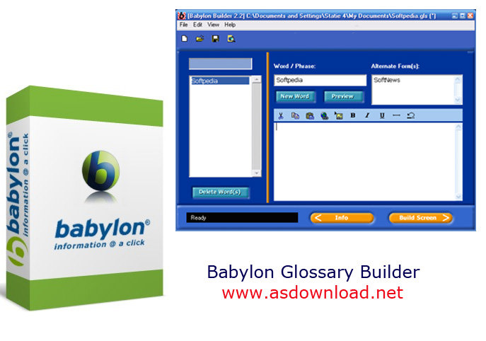 Babylon Glossary Builder 3.1.0-نرم افزار ساخت دیکشنری برای بابیلون