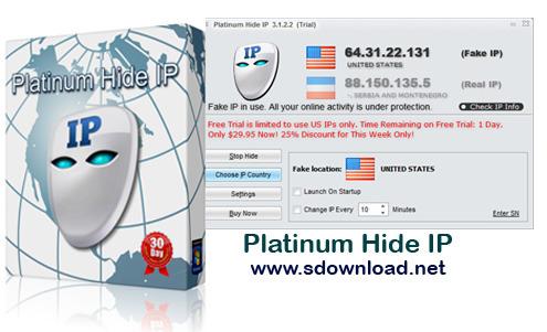 Platinum Hide IP 3.1.2.2-نرم افزار تغییر ip