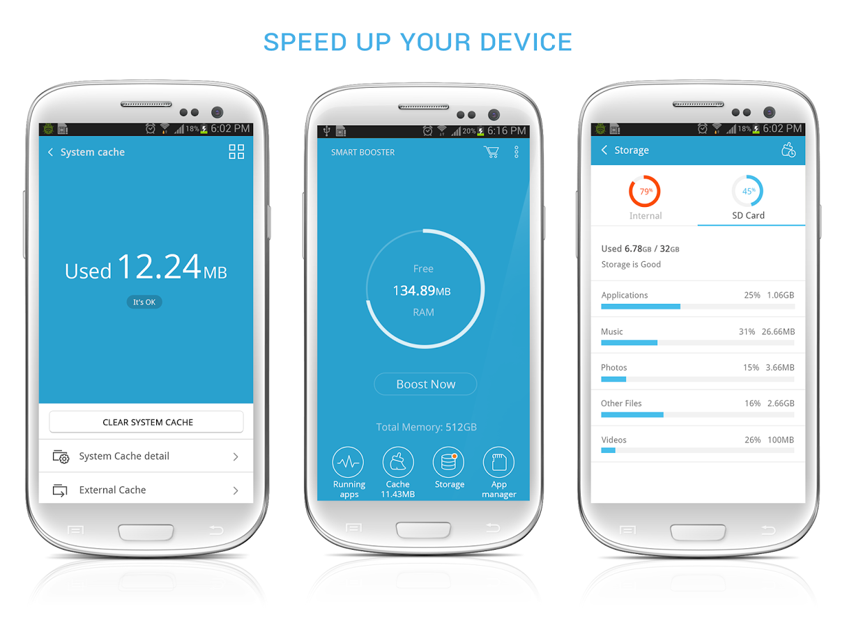 Smart Booster - Free Cleaner v3.97-نرم افزار بهینه سازی گوشی و افزایش سرعت اندروید