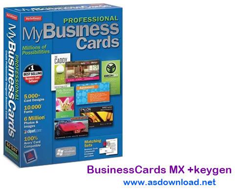 BusinessCards MX 4.94+ serial + keygen-نرم افزار طراحی کارت ویزیت