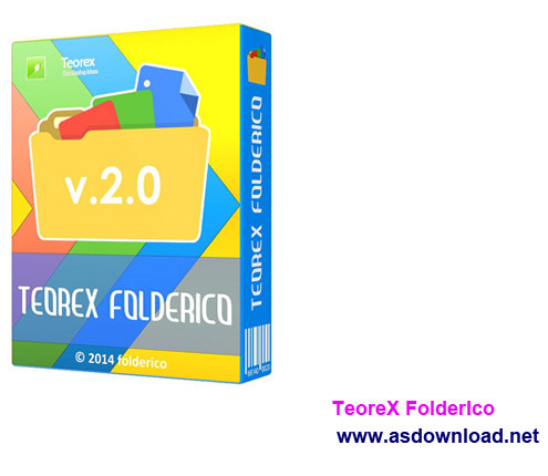 TeoreX FolderIco 3.0 +crack, serial-نرم افزار تغییر رنگ پوشه های ویندوز
