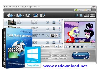 Tipard Total Media Converter 6.2.32+crack-قویترین نرم افزار تبدیل فرمت فیلم ها برای تمامی گوشی ها