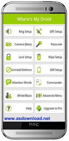 Wheres My Droid v5.2.4 PRO features Unlocked-نرم افزار یافتن گوشی های گم شده