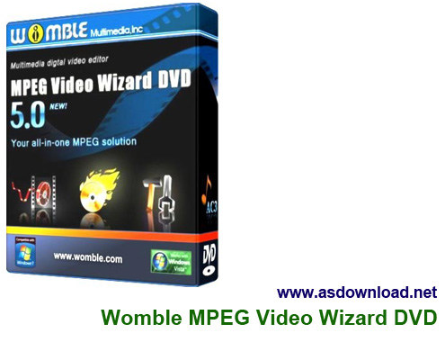 Photo of Womble MPEG Video Wizard DVD 5.0.1.111 + serial-نرم افزار ویرایش ویدئو