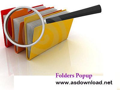 Folders Popup 4.0.4 + x64-نرم افزار دسترسی آسان به پوشه ها