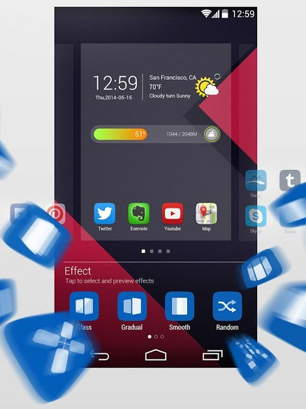 GO Launcher EX 5.0-دانلود تم لانچر برای اندروید