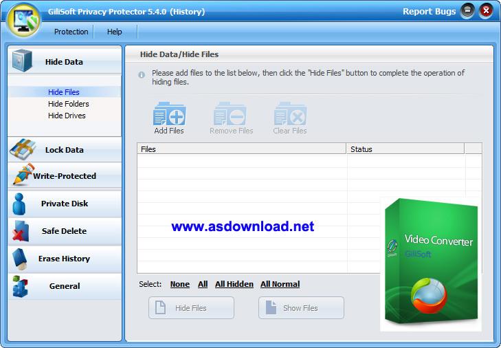 GiliSoft Privacy Protector v5.7 + keygen-نرم افزار قفل گذاری بر روی فایل های شخصی
