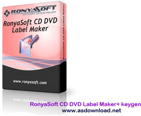 RonyaSoft CD DVD Label Maker 3.01.30 + keygen- نرم افزار ساخت لیبل CD ,DVD