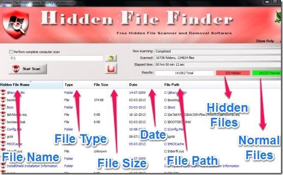 Hidden File Finder 3.5-جست جوی فایل و پوشه های مخفی