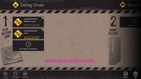 Auslogics.Disk .Defrag Auslogics Disk Defrag Touch 1.3.0  یکپارچه سازی و افزایش سرعت هاردیسک