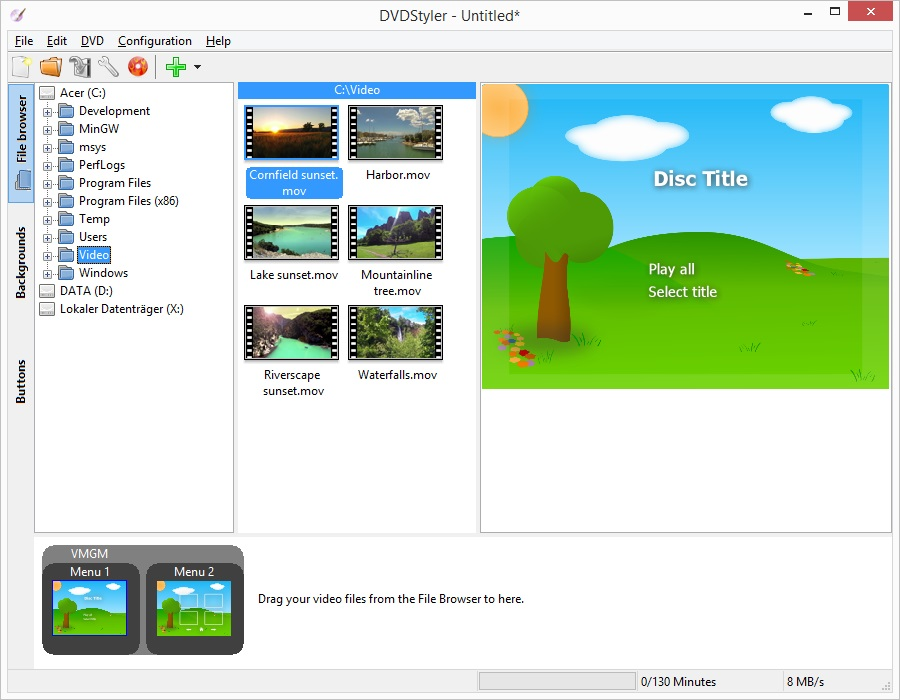 DVDStyler 2.9 Final – نرم افزار ساخت منوی dvd