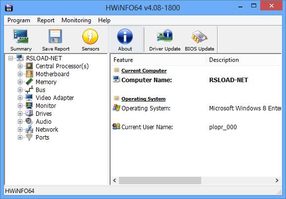 HWiNFO32 4.48 Build 2350 + x64 – نرم افزار نمایش اطلاعات قطعات کامپیوتری