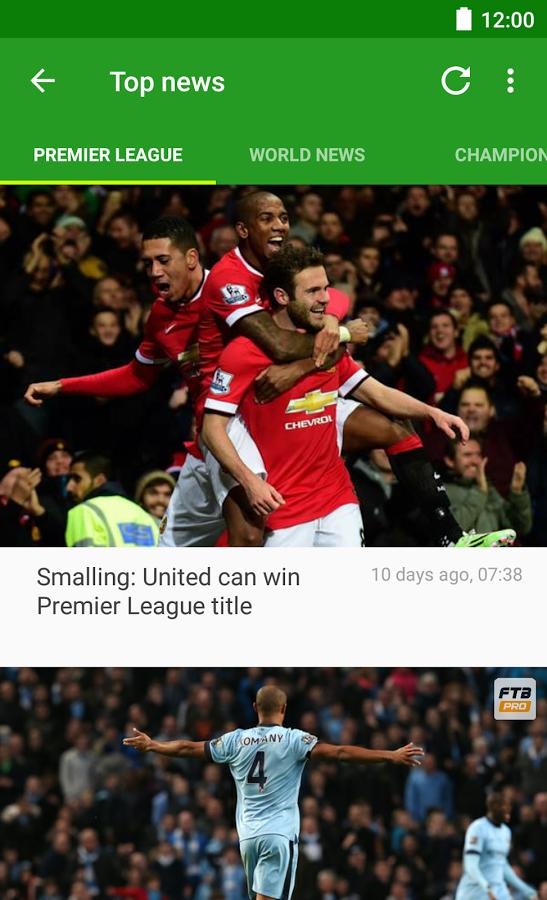 Soccer Scores FotMob 2 Soccer Scores   FotMob   نرم افزار نمایش نتایج 100 لیگ فوتبال جهان